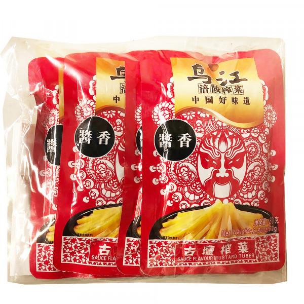 WuJiang Mustard Tuber (Sauce Flavour) - 4*80g