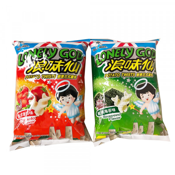 WANT-WANT Lonely God Potato Twists- 70 g