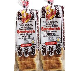 Whole wheat sliced bread - 675g