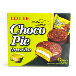 LOTTE Choco-pie Green Tea 336g